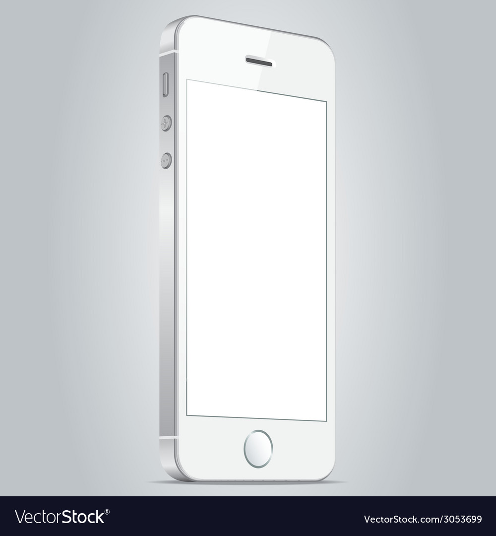 Realistic white apple iphone 5s and iphone 6 plus vector | Price: 1 Credit (USD $1)