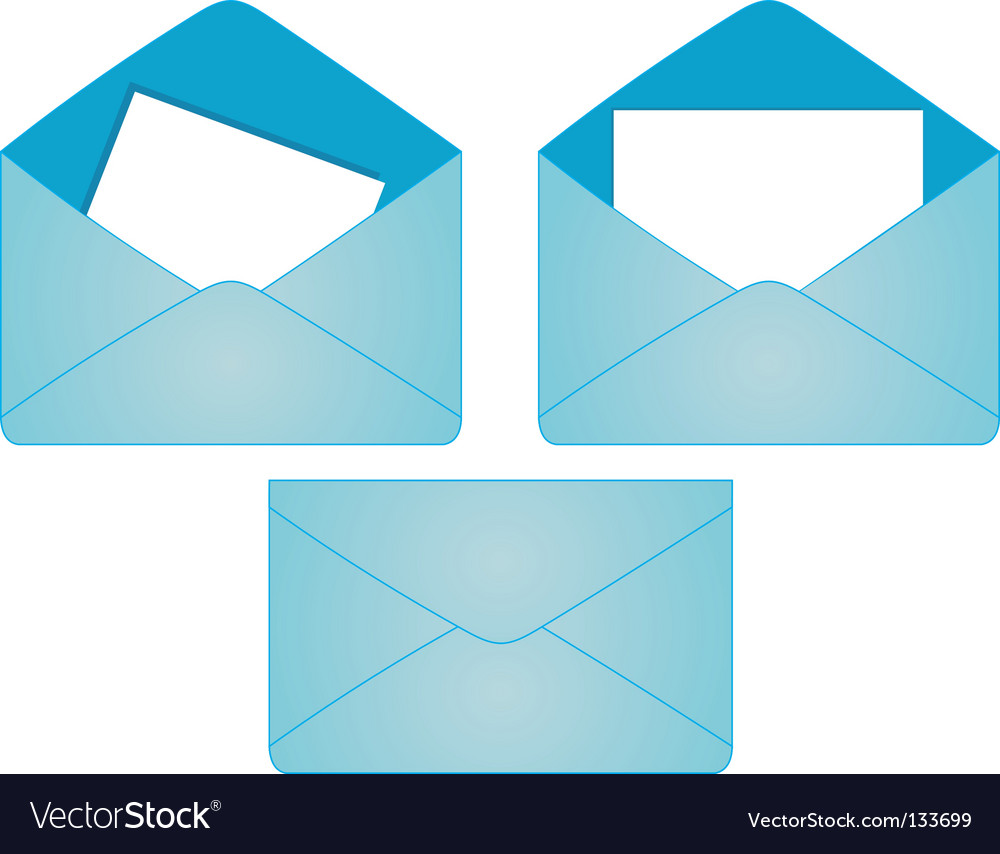 Set of postal envelopes vector | Price: 1 Credit (USD $1)