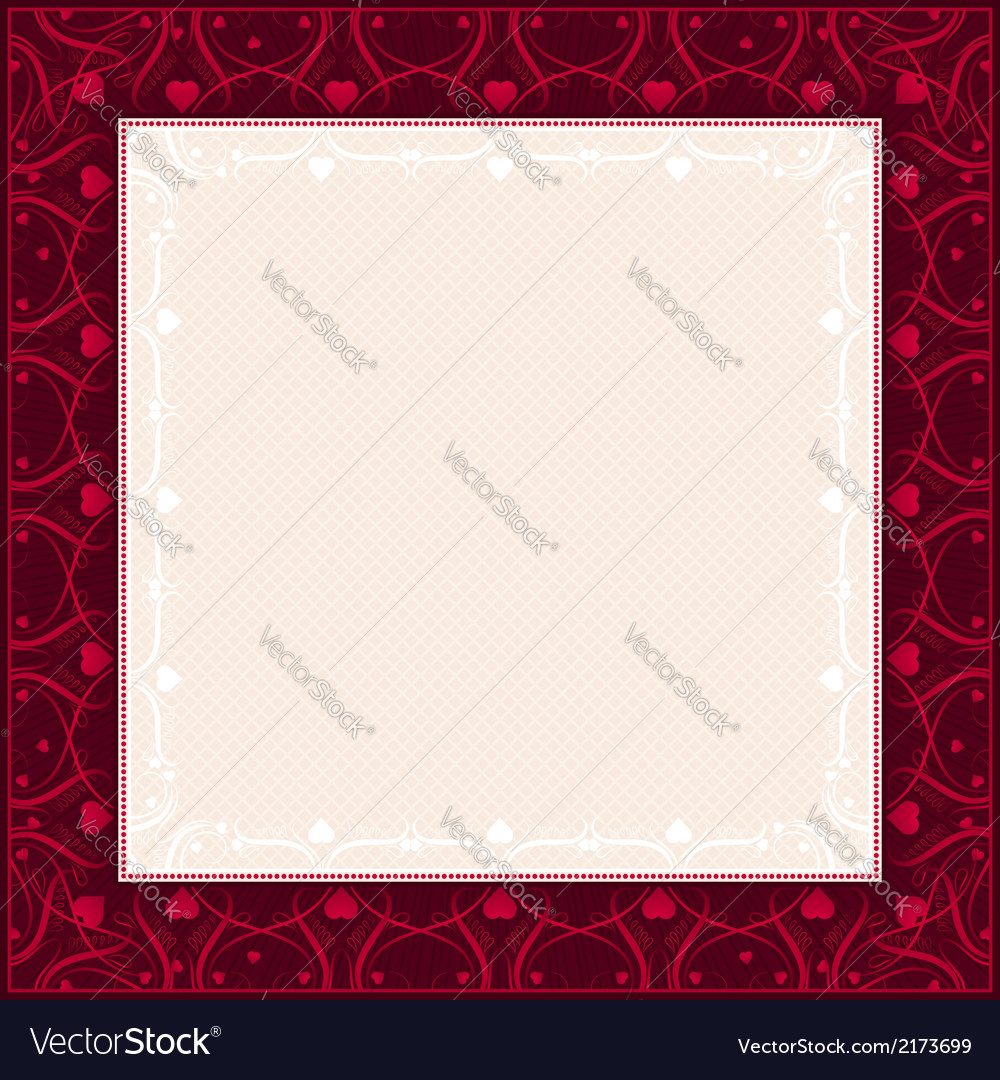 Square red background with decorative ornaments vector | Price: 1 Credit (USD $1)