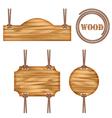 Wood frame rope design vector