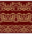 Gold geometric seamless border vector