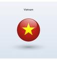 Vietnam round flag vector