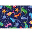 Colorful sea animals vector