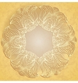 Paper lace on beige background vector