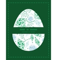Abstract blue and green leaves easter egg vector