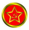 Soviet union flag icon or button vector