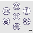 Internet devices icon set vector