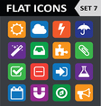 Universal colorful flat icons set 7 vector