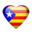 Catalonia flag button vector
