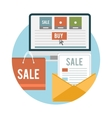 Business online sale icons vector