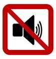 No speaker volume sign vector