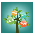 Shopping tree vector