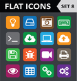 Universal colorful flat icons set 8 vector