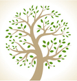 Stylized colorful tree icon vector