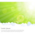 Abstract natural sunshine and cloud background vector