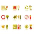 Saving natural resources icon set vector