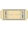Paper ticket vector