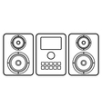 Music center icon vector