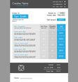 Invoice template - blue theme with big item tab vector