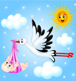 Stork nursery background vector