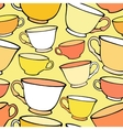 Seamless pattern with bright colorful cups vector