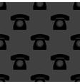 Retro telephone web icon flat design seamless gray vector