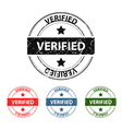 Verified grunge stamp vector