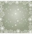 Snowflakes gray vector