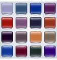 Glass buttons set vector