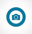 Camera bold blue border circle icon vector