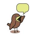 Talking bird 01 vector