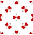Seamless pattern with butterfly hearts cute vector