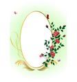 Elegant floral frame vector