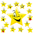 Yellow stars vector