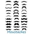 Moustache icons set vector
