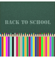 Back to school chalkboard vector
