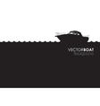 Boat banner vector