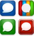 Web speech bubble app icons vector