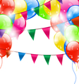 Funny background with balloons vector