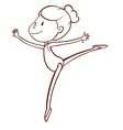 A simple sketch of a gymnast vector