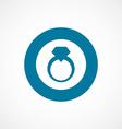 Jewelery ring bold blue border circle icon vector