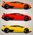 Lamborghini side view vector