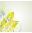 Abstract artistic background with yellow floral vector