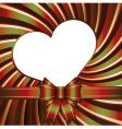 Background with heart and ribb vector