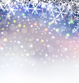 Abstract christmas background with snowflakes vector