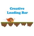 Fast and slow snail progress loading bar vector