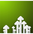 Paper arrows on green background vector