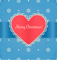 Christmas card with heart vector