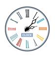 Retro abstract clock face vector