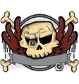 Detailed cartoon skull vector